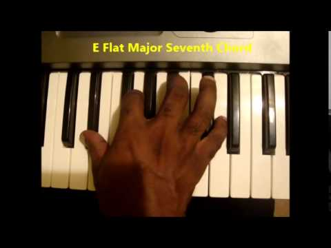 How To Play Ebmaj7 Chord (E Flat Major Seven) On Piano & Keyboard ...