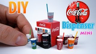 DIY Realistic Miniature Coca-Cola Dispenser | DollHouse | No Polymer Clay!