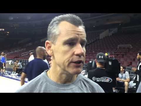 Donovan: Shootaround in Philadelphia - March 18, 2016