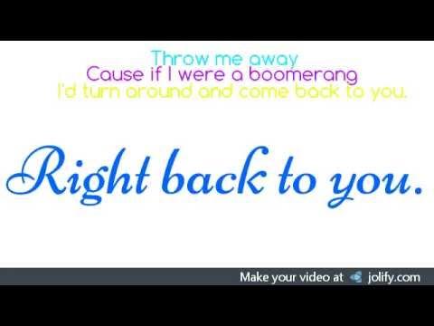 Boomerang- The Summer Set(lyrics)
