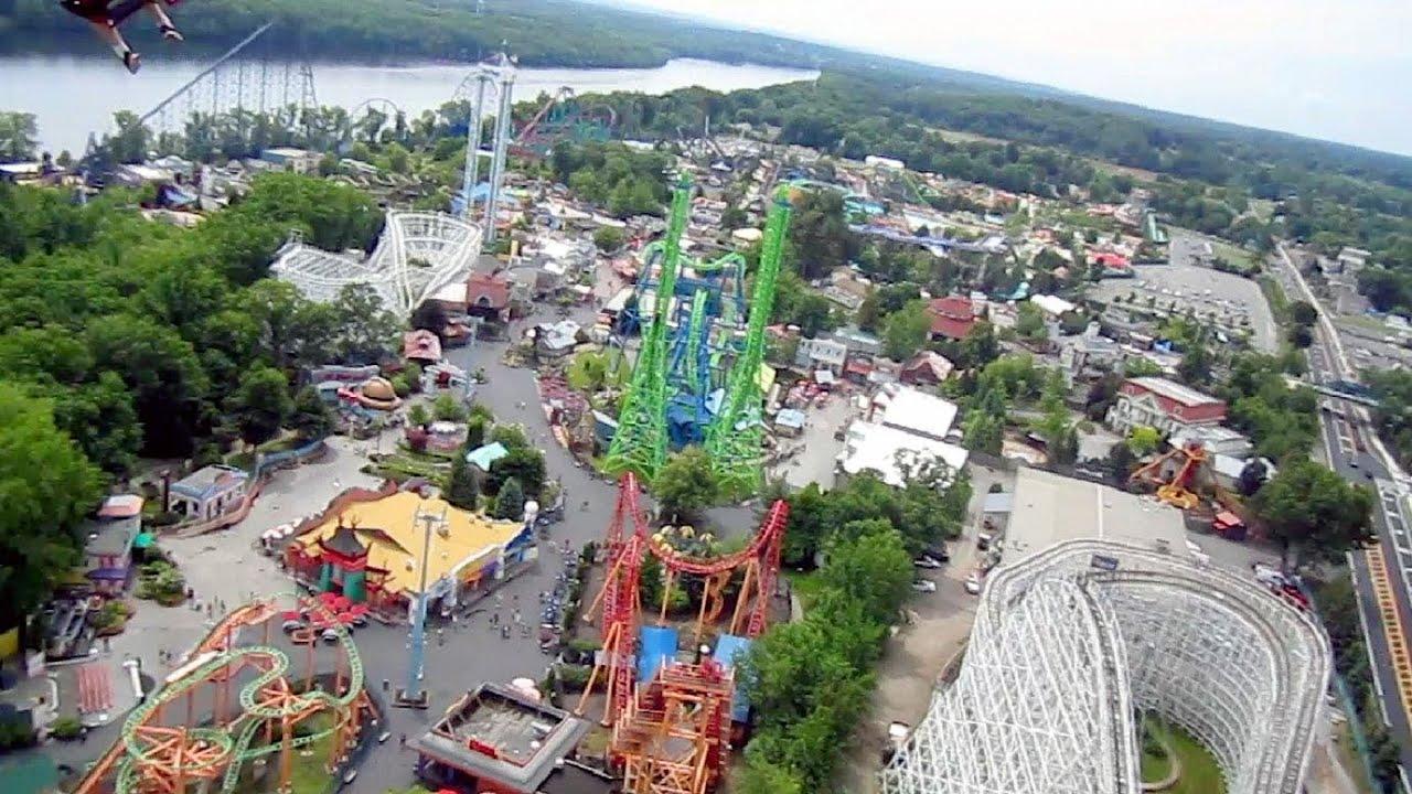 New England SkyScreamer on-ride HD POV Six Flags New ...