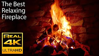 Download 4K Relaxing Fireplace with Crackling Fire Sounds 🔥 - No Music - 4K UHD - 2 Hours Screensaver Mp3 and Videos