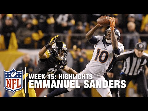 Emmanuel Sanders highlights   Broncos vs. Steelers   NFL