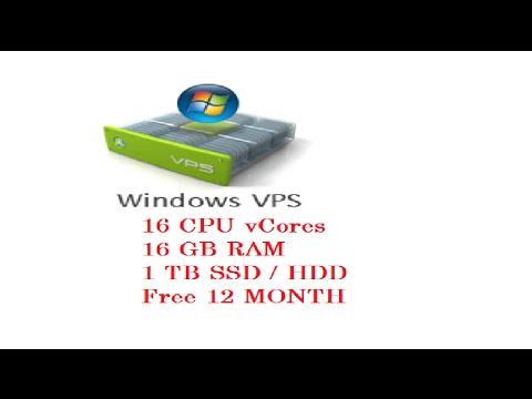 VPS FREE WINDOWS/LINUX 12 MONTHS-VPS 16 CPU -16GB RAM-2016