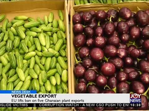 Vegetable Export - News Desk on Joy News (9-11-17)