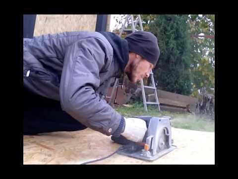 видео: Гараж 6х4 обшивка ОСБ панелями