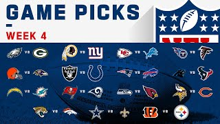 Week 4 NFL Game Picks!