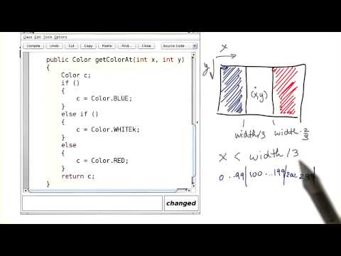 Draw a Flag with Three Colors - Intro to Java Programming - YouTube