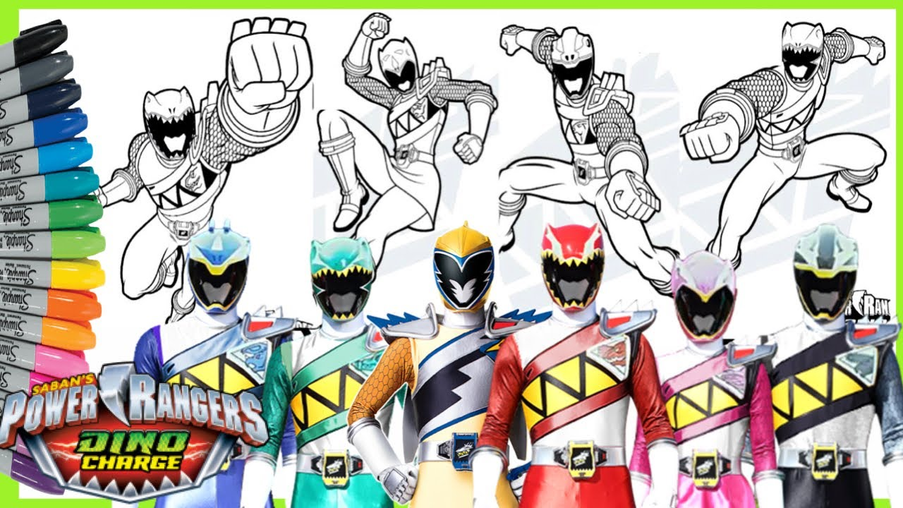mewarnai power rangers coloring pages
