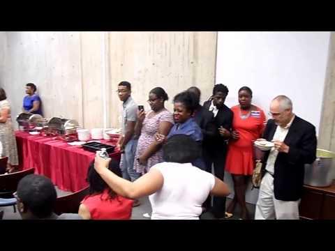 Raising the Haitian Flag day Breakfast at Boston City hall 5/18/17