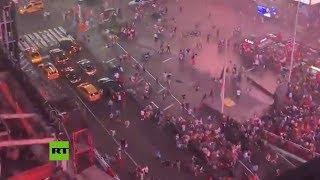 Huida masiva de Times Square por un falso tiroteo