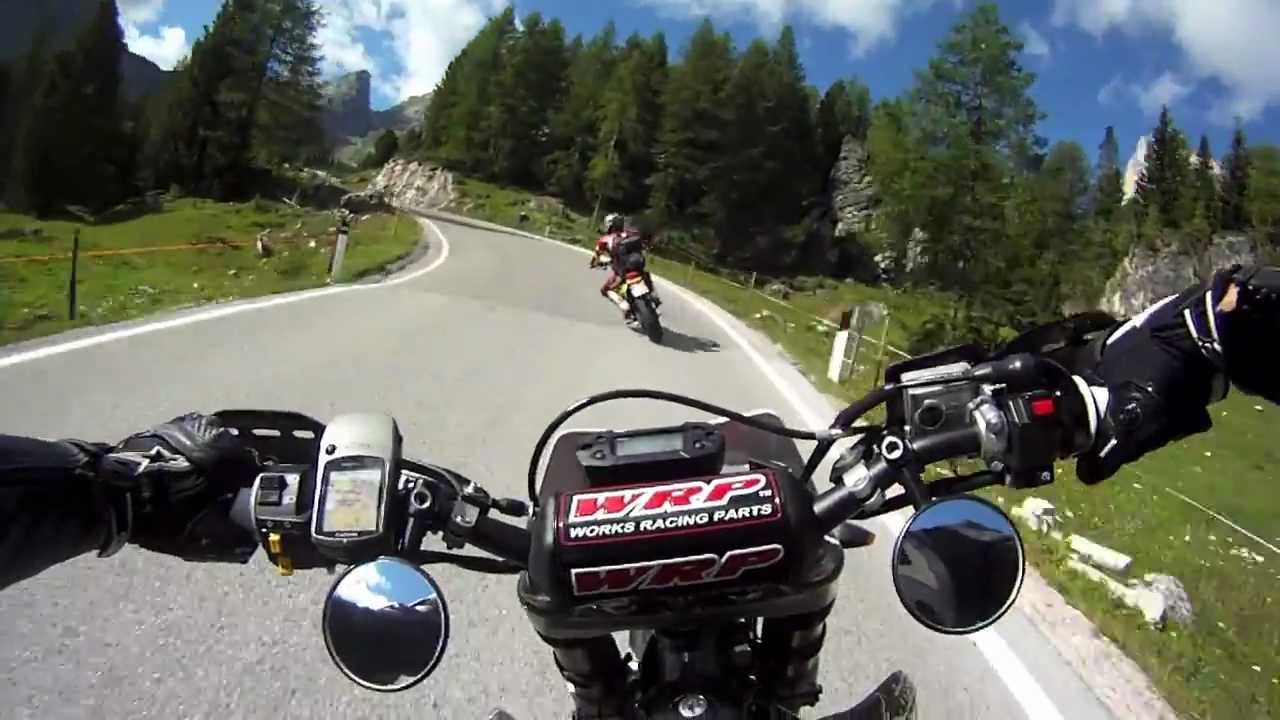 Supermoto tour youtube for Spiegel unten motorrad
