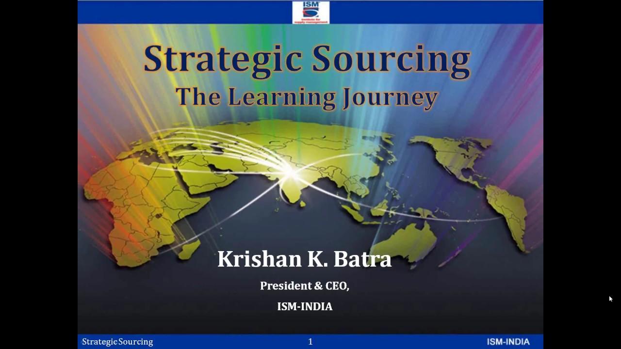 Webinar On Strategic Sourcing Youtube