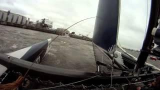 extreme 40 catamaran sailing 2015 in hamburg