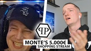 Justin reagiert auf Montes 5000€ Shopping Stream.. | Reaktion