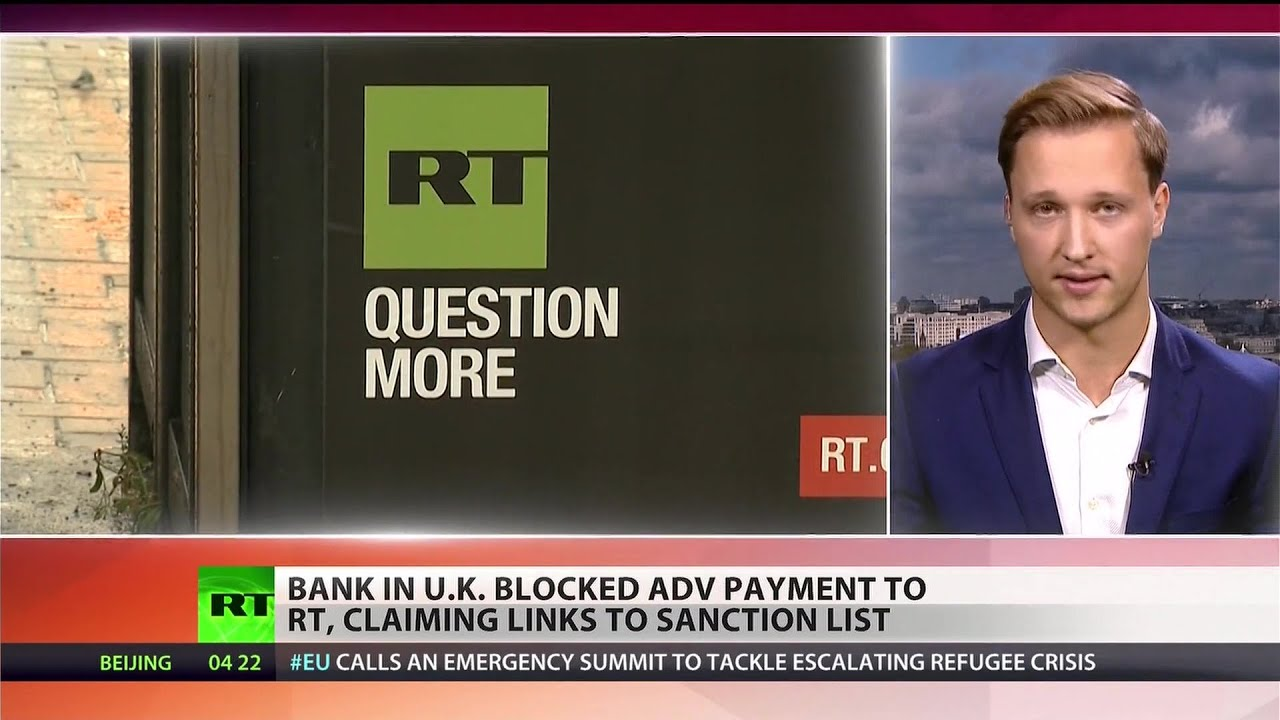 Bank stops payment to RT UK over European sanctions - YouTube