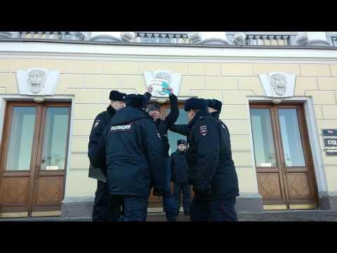 Задержание у КС Динара Идрисова после оглашения по статье 212.1