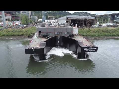 Zidell Marine launches last barge