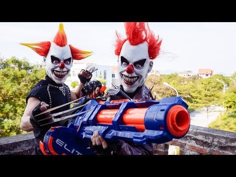 Loka Nerf Guns : Squad Delta Nerf Guns Fight Dr.Crazy Crime Group Mask Ep 1