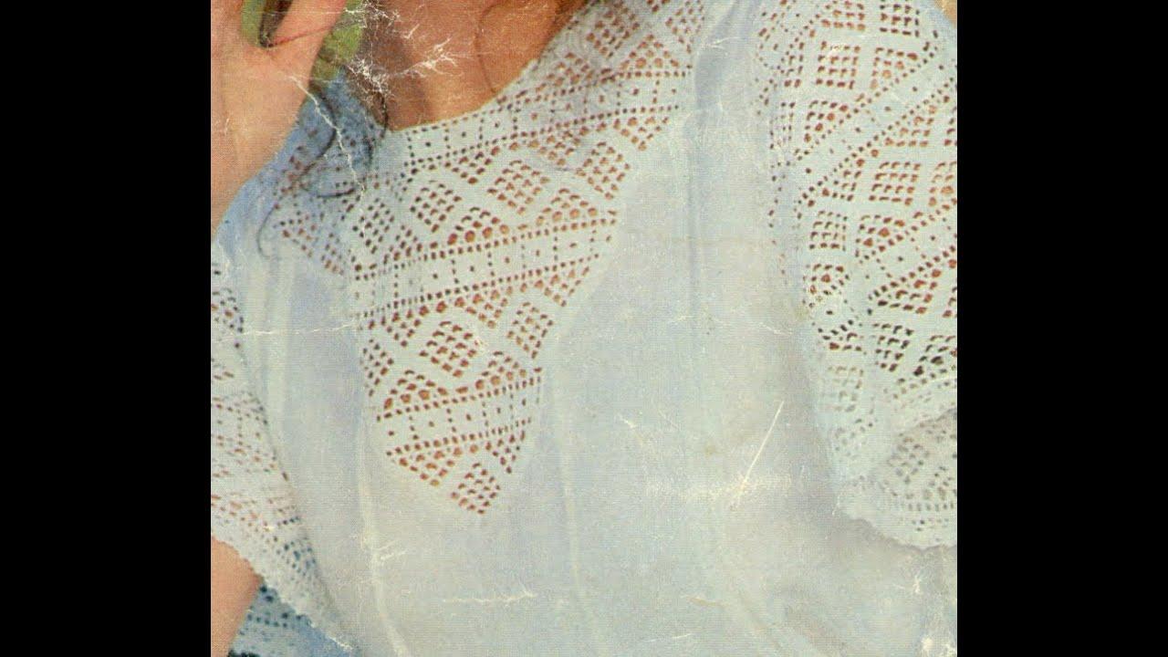Gráficos para tejer Encaje a ganchillo para blusa - YouTube