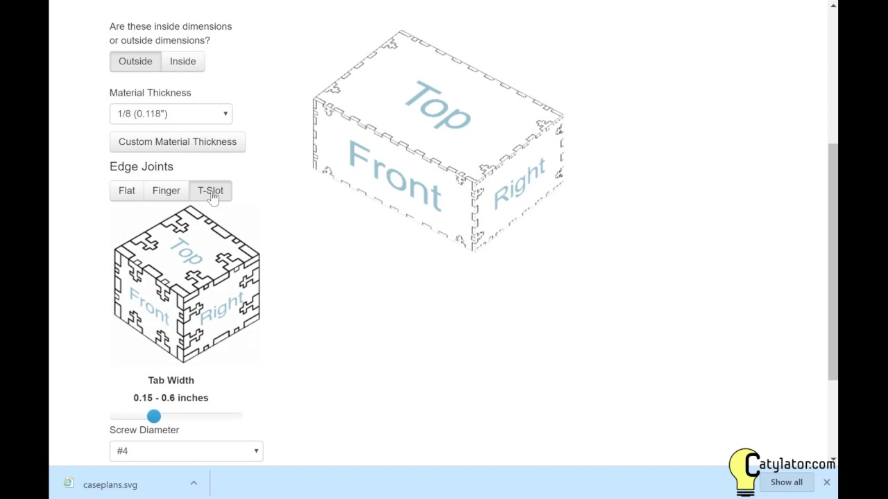 How to Make Lasercut Box Patterns with Makercase.com and CorelDraw ... for Laser Cut Box Template  59jwn
