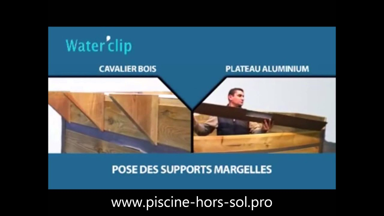Montage piscine bois waterclip youtube for Montage piscine