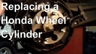 How To Replace a Leaking Wheel Cylinder On Rear Drum Brakes (example Honda Civic)