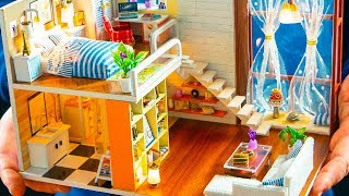 5 DIY Miniature Doll House Rooms *NEW* Room ~ Rapunzel Room Decor, Backpack