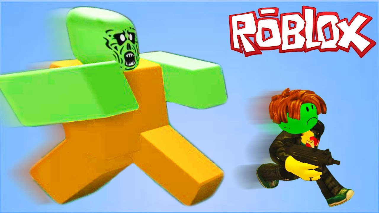 ROBLOX Атака ЗОМБИ Мульт игра для детей Zombie Rush