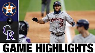 Astros offense erupts for 10 runs in win | Astros-Rockies Game Highlights 8/20/20