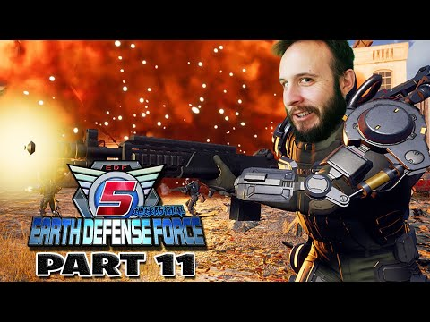 Earth Defense Force 5 Part 11 - Funhaus Gameplay