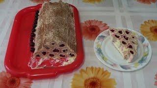 Торт Монастырская изба с вишней и сметанным кремом(Рецепт торта под названием