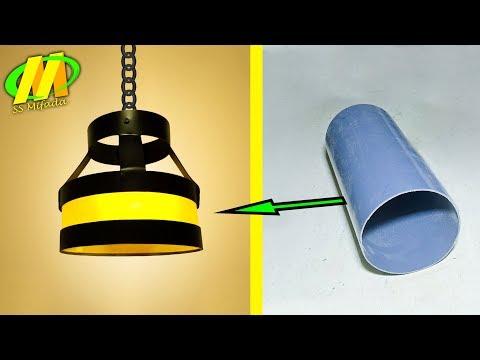 Kerajinan tangan lampu hias unik dari pipa pvc yang menghasilkan
