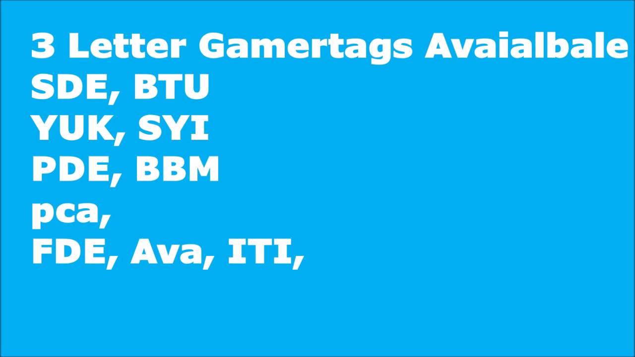 3 Letter Gamertags 2016   YouTube