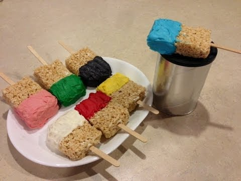 Rice Krispies Treats Paint Brushes