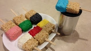 Rice Krispies Treats Paint Brushes