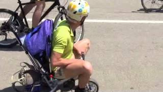 Самый медленный велосипедист