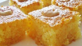 coarse semolina cake hereseh هريسة الشامية