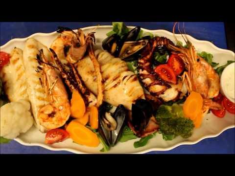 Best Seafood platter Oia Santorini