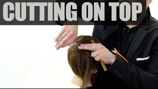 PROPERLY Cutting Hair On Top Of Your Fingers - Haircutting Tip