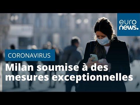 Coronavirus: la vibrante Milan est soumise à des mesures exceptionnelles