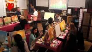 Paint 'n Tea Party at Heart of Art Studio (Feb 28, 2015)