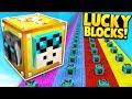 Minecraft 1v1v1v1 YOUTUBER LUCKY BLOCK RACE! - Minecraft Mods