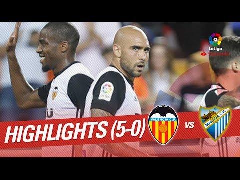 Resumen de Valencia CF vs Málaga CF (5-0)