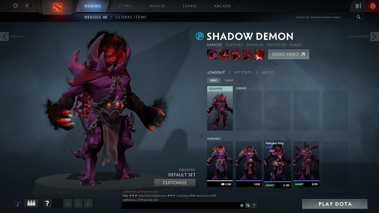 dota 2 shadow demon gameplay demo youtube