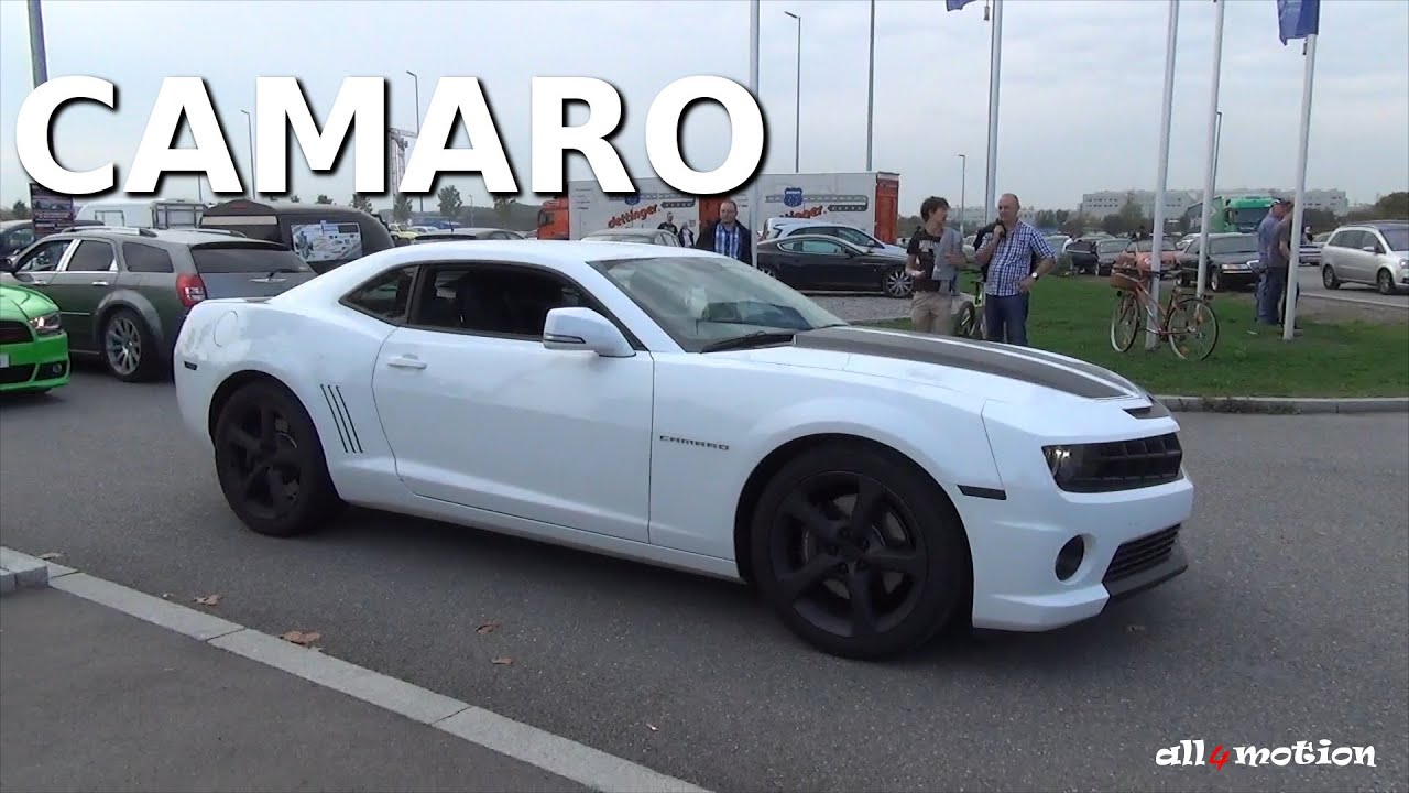 Nice White Black Striped Chevrolet Camaro Leaving American Power Meeting 2014 Youtube