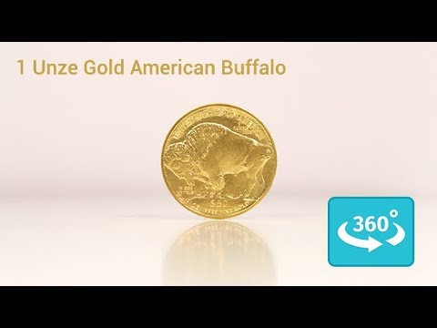 1 oz American Buffalo Gold - Goldmünze in 360° Ansicht