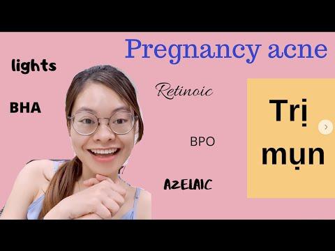 Thuốc bôi trị mụn khi mang thai/ tắm nắng, #salicylicacid, #benzoylperoxide, #tretinoin...