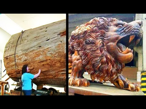 Expert Woodworkers Carving Amazing Things Out Of Huge Logs