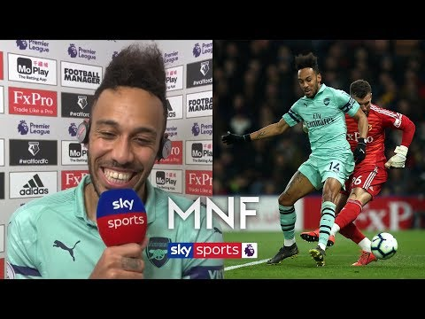 Pierre-Emerick Aubameyang reacts to his bizarre goal against Watford! | MNF